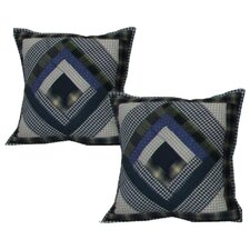 <strong>Patch Magic</strong> Log Cabin Cotton Toss Pillow (Set of 2)