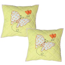 <strong>Patch Magic</strong> Sundress Butterfly Cotton Pillow (Set of 2)