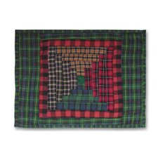 Tartan Log Cabin Cotton Pillow (Set of 2)