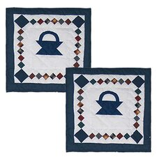 <strong>Patch Magic</strong> Sampler Basket Cotton Pillow (Set of 2)
