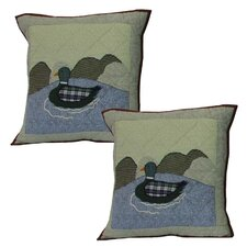 <strong>Patch Magic</strong> Moose Mallard Cotton Toss Pillow (Set of 2)