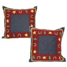 Lil Buckaroo Cotton Toss Pillow (Set of 2)