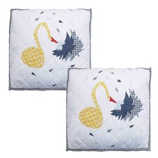 <strong>Patch Magic</strong> Fire Truck and Waterhose Cotton Toss Pillow (Set of 2)