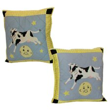 Hey Diddle Cotton Toss Pillow (Set of 2)