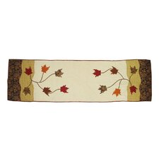 Autumn Leaves Cotton Bed Scarf