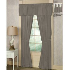 Plaid Cotton Rod Pocket Window Curtain Single Panel