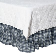 Plaid Cotton Bed Skirt
