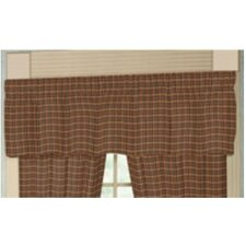 <strong>Patch Magic</strong> Warm  Brown Red Plaid Rod Pocket Curtain Valance