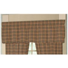 <strong>Patch Magic</strong> Golden Brown Plaid Rod Pocket Curtain Valance