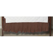 Plaid Fabric Crib Dust Ruffle
