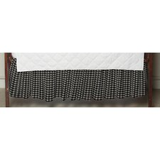 <strong>Patch Magic</strong> Cream and White Gingham Checks Fabric Crib Dust Ruffle