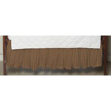 Golden Brown Plaid Fabric Crib Dust Ruffle