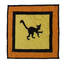 <strong>Patch Magic</strong> Halloween Cat Cotton Toss Pillow