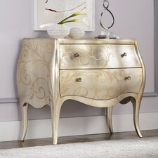 Jessica Mcclintock 2 Drawer Accent Leaf Chest