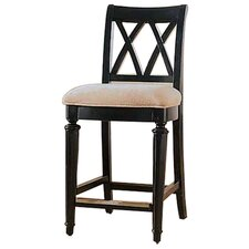 Camden Black Splat Bar Stool