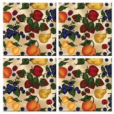 Tuftop Fruit Collage Coasters (Set of 4)