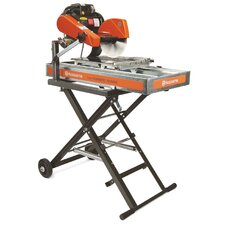 "Tilematic TS 250 X3 1.5 HP 220 V 10"" Blade Diameter Electric Tile Saw with Galvanized Steel Pan"