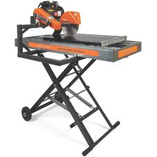 "<strong>Husqvarna</strong> Super Tilematic TS 250 XL3 1.5 HP 220 V 10"" Blade Diameter Electric Tile Saw with Galvanized Steel Pan and Dual Voltage Motor"