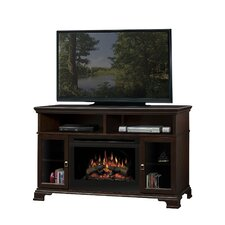 """Brookings 53"""" TV Stand with Electric Log Fireplace"""