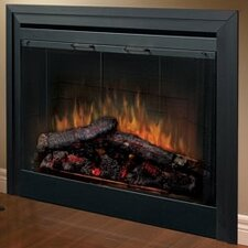 Electraflame Built-in Electric Fireplace with Bifold Glass Door and Trim