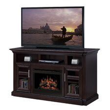 "<strong>Dimplex</strong> Bailey 66"" TV Stand with Electric Logs Fireplace"