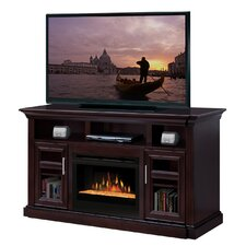 "Bailey 66"" TV Stand with Electric Ember Bed Fireplace"