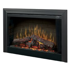"Electraflame 45"" Built-in Electric Firebox with Glass Door and Trim"