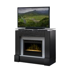 "Jasper 48"" TV Stand with Electric Fireplace with Logs"