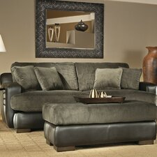 <strong>Wildon Home ®</strong> Bally Leather / Polyester Sofa