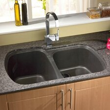 "<strong>Astracast</strong> 33"" x 22"" USA Granite ROK Double Bowl Kitchen Sink"