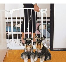 Swing Closed Pet Gate in White