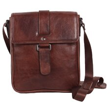 <strong>Dr. Koffer Fine Leather Accessories</strong> Rustic Buckle Shoulder Bag