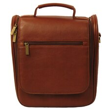 <strong>Dr. Koffer Fine Leather Accessories</strong> Upright Toiletry Bag