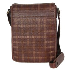 Cross Stitch Vertical Laptop Messenger Bag