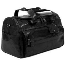 "<strong>Dr. Koffer Fine Leather Accessories</strong> Coleridge 18"" Leather Carry-On Duffel"