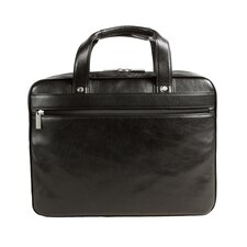 <strong>Dr. Koffer Fine Leather Accessories</strong> Slim Leather Laptop Briefcase