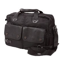 Aelius Leather & Nylon Double Pocket Computer Bag