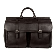 "<strong>Dr. Koffer Fine Leather Accessories</strong> Lorenzo 12"" Leather Carry-On Duffel"
