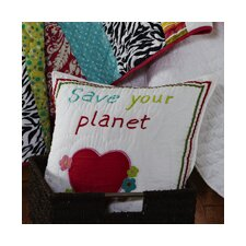 Abby/Jane Save the Planet Decorative Pillow