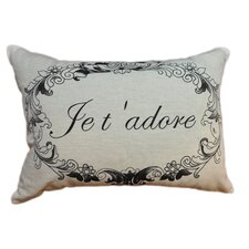 Je T 'Adore Linen Decorative Pillow