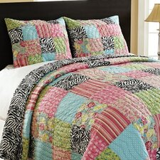 Zebra Patchwork Quilt Set