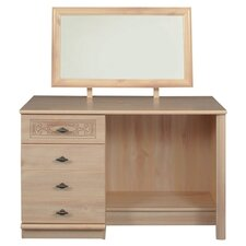 Florence Single Pedestal Dressing Table with Mirror