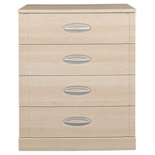 Strata 4 Drawer Wide Bedside Table