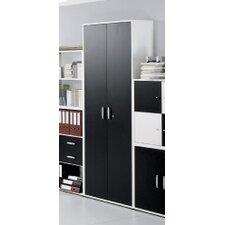 Black and White 6 Shelf Bookcase