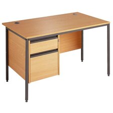 Maestro Straight H Frame Computer Desk with 2 Drawers