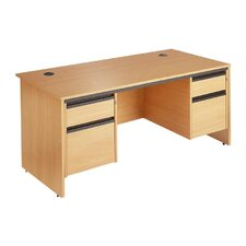 Maestro Computer Desk with Straight Panel and Fixed Pedestal