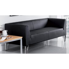 Linear Faux Leather 3 Seater Sofa