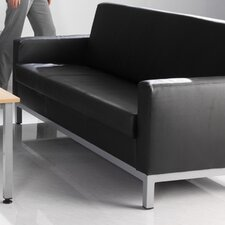 <strong>Office Basics</strong> Helsinki Leather 3 Seater Sofa