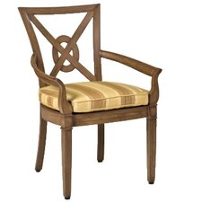 <strong>Woodard Landgrave</strong> Vienna Dining Arm Chair with Cushion