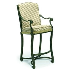 "<strong>Woodard Landgrave</strong> Villa Small Stationary 34"" Barstool with Cushions"